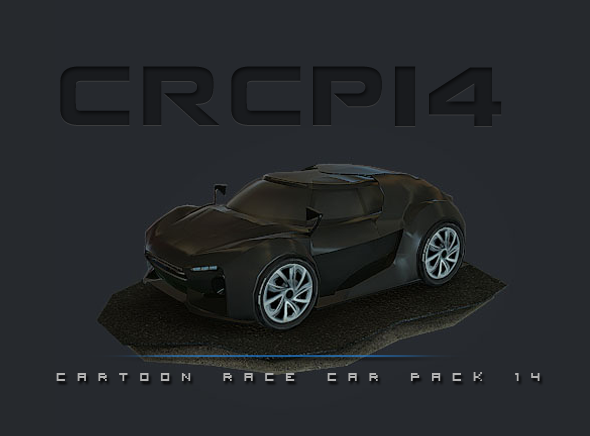 CRCP14 - Cartoon Race Car Pack 14 - 3DOcean Item for Sale
