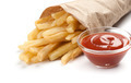 French fries with ketchup on white - PhotoDune Item for Sale