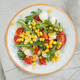 salad from arugula tomatoes mozzarella and corn - PhotoDune Item for Sale
