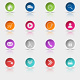 Colored Set Round Web Buttons - GraphicRiver Item for Sale