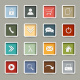 Colored Web Buttons Retro Style - GraphicRiver Item for Sale