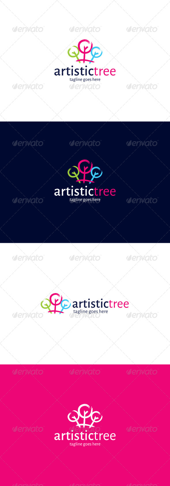 GraphicRiver Artistic Tree Logo 8255518