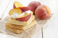 waffles with sour cream and peach - PhotoDune Item for Sale