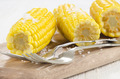 boiled corn cobs with coarse salt - PhotoDune Item for Sale