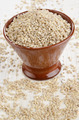 hulled pearl barley in a bowl - PhotoDune Item for Sale