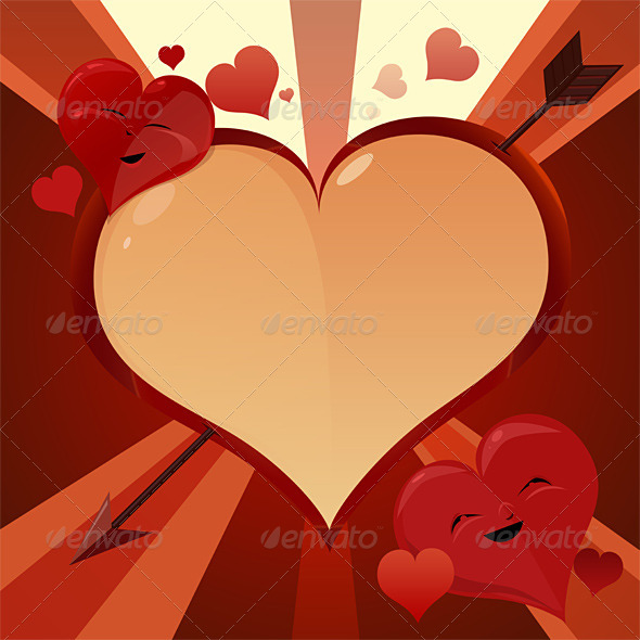 GraphicRiver Valentine hearts 8251046