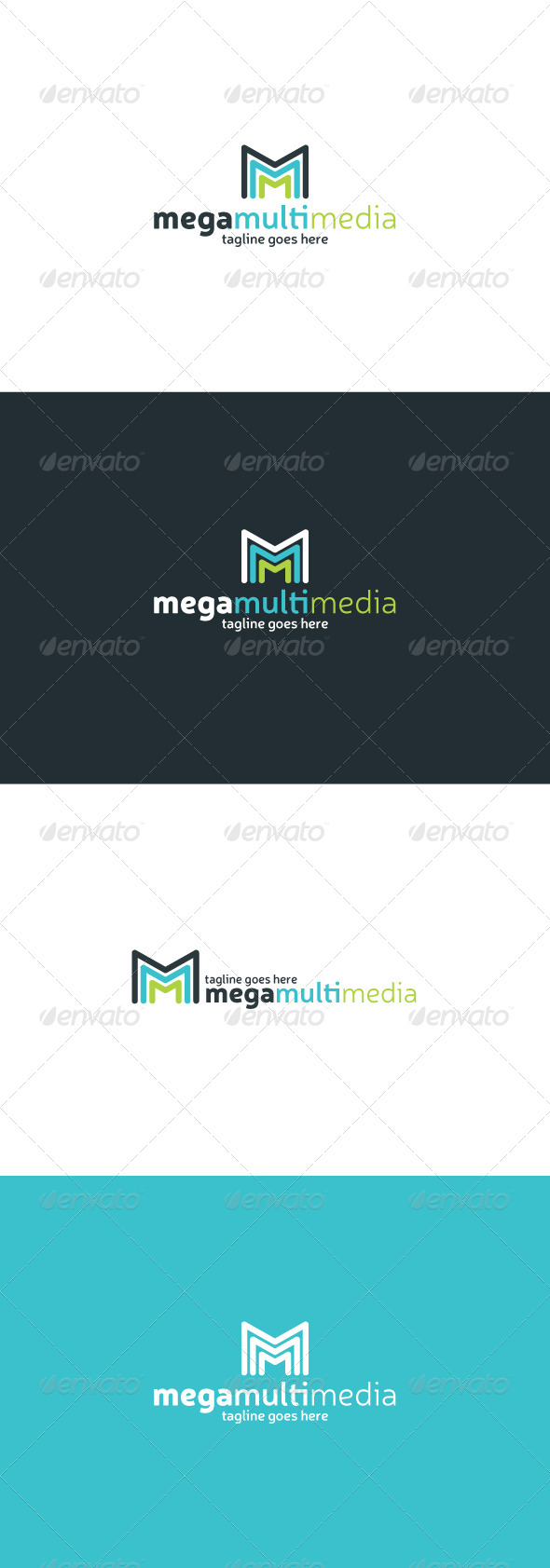 Mega Multi Media Logo Letter M