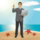 Vector Business Man Shows Something With Finger - GraphicRiver Item for Sale