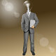 Vector Lamp Head Businessman With Laptop - GraphicRiver Item for Sale