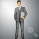 Vector Businessman With Laptop - GraphicRiver Item for Sale