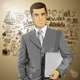 Businessman with Laptop - GraphicRiver Item for Sale