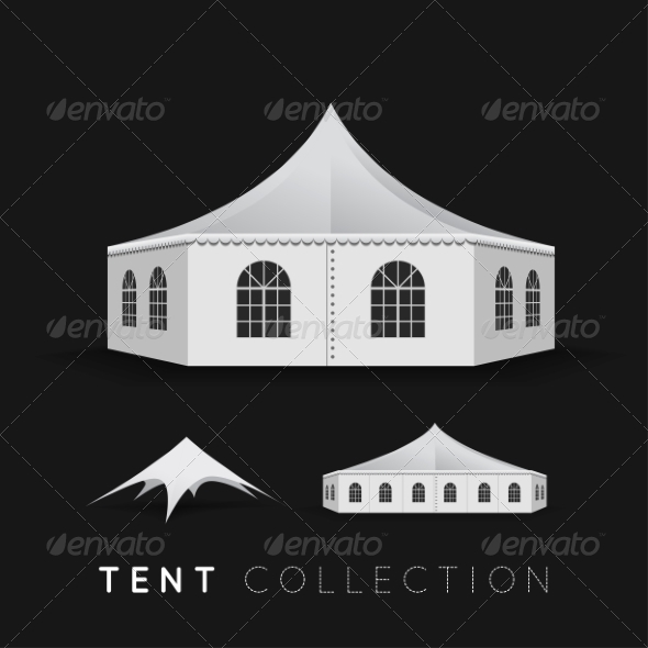 GraphicRiver Set of Tents 8256302