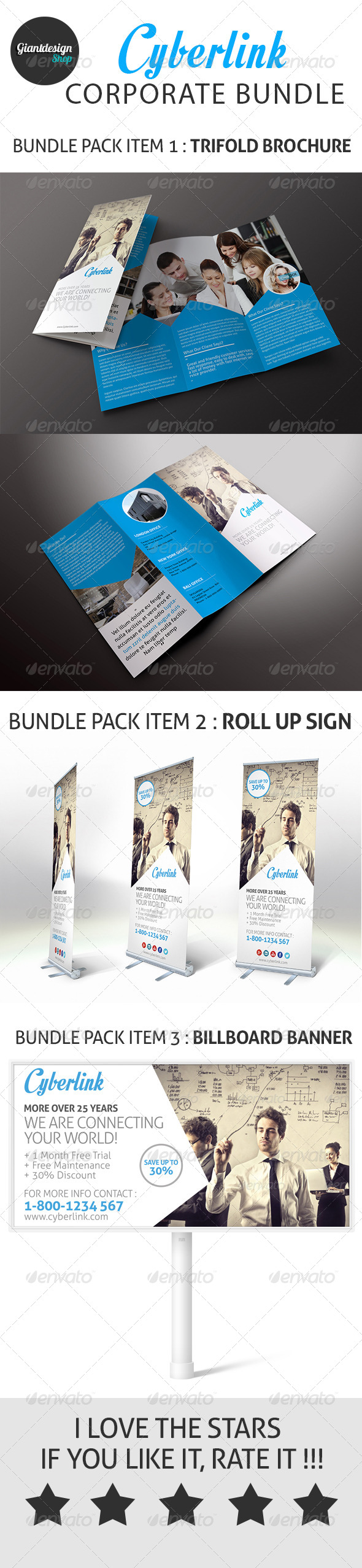 GraphicRiver Cyberlink Corporate Bundle 8226142