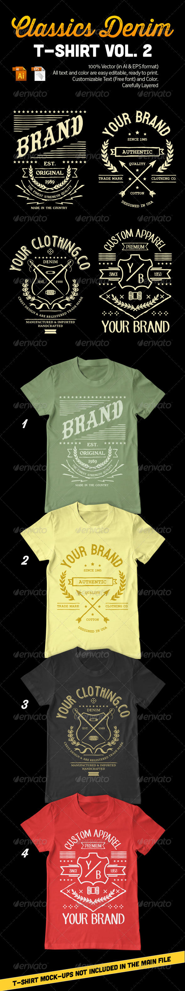 GraphicRiver Classics Denim T-Shirt Vol 2 8256379