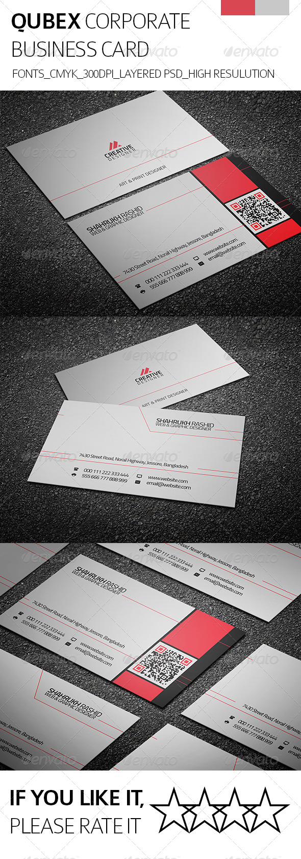 GraphicRiver Qubex & Corporate Business Card 8256622