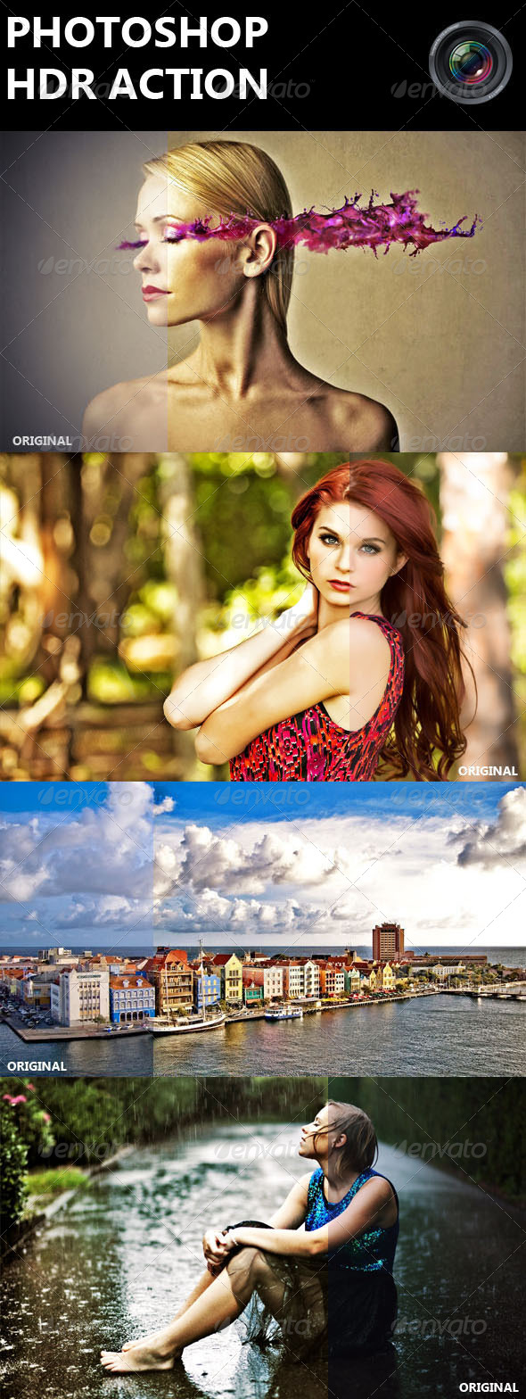 GraphicRiver Photoshop HDR Action 8251795