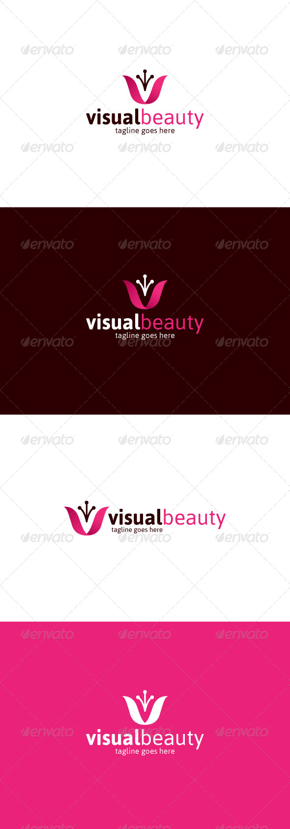 GraphicRiver Visual Beauty Logo Letter V 8256691