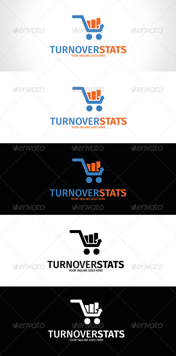 GraphicRiver Turnover Stats Logo Template 8256808