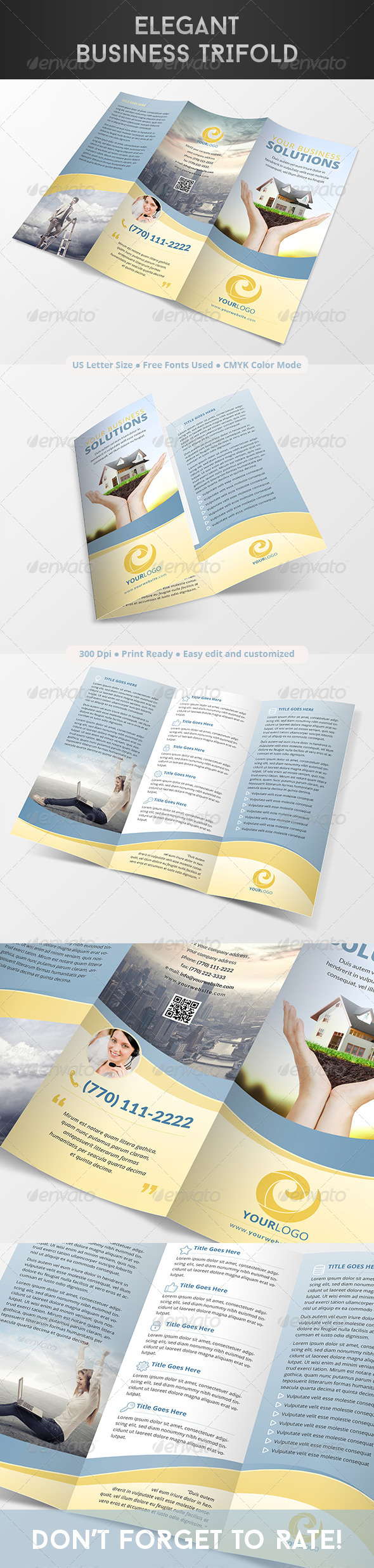 GraphicRiver Elegant Business Trifold 8252383