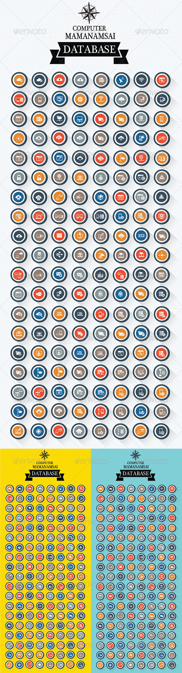 GraphicRiver 152 Database Server Icons 8257073