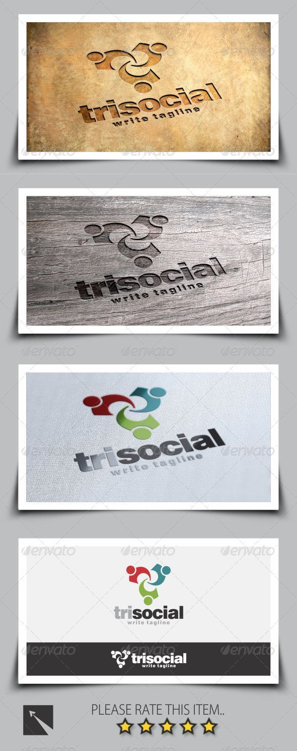 GraphicRiver Social Triangle Logo Template 8257086