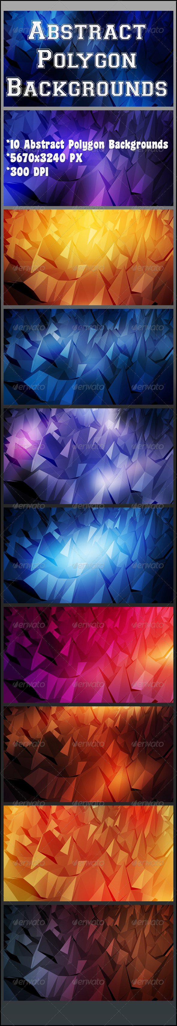 GraphicRiver Abstract Polygon Backgrounds 8257089