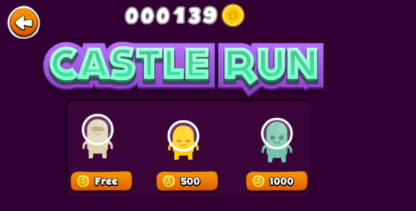 CodeCanyon Castle Run Endless Runner with IAP 8257197