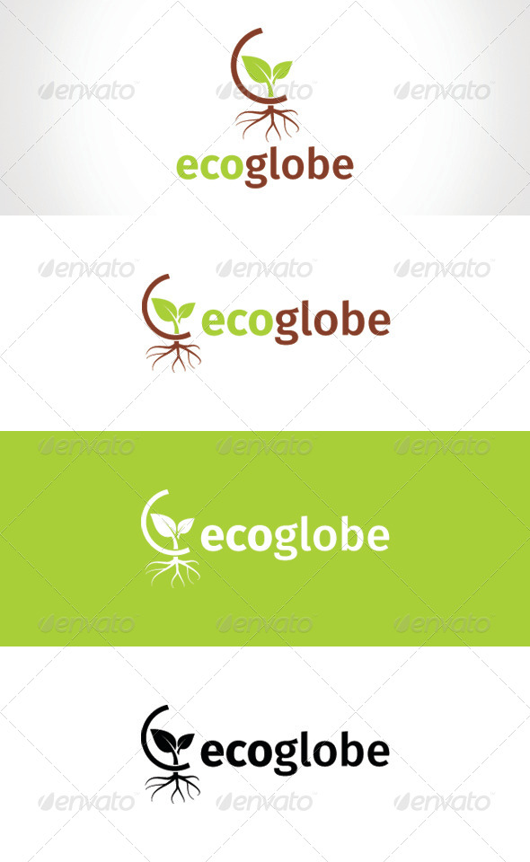 GraphicRiver Eco Globe Logo Template 8257239