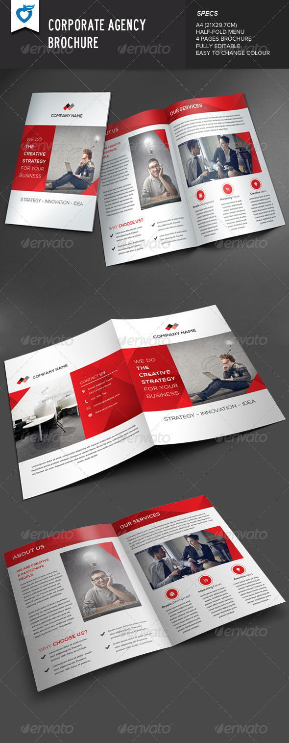 GraphicRiver Corporate Agency Brochure 8257271
