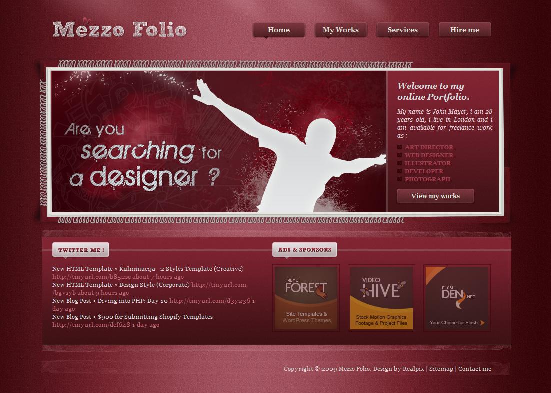 Mezzo Folio | Designer portfolio