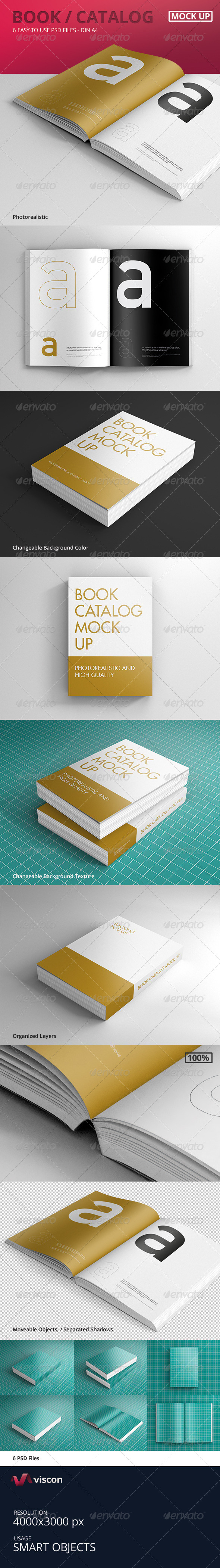 GraphicRiver Book Catalog Mock-Ups 8257408