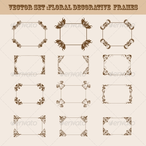GraphicRiver Set of Decorative Frames 8257409