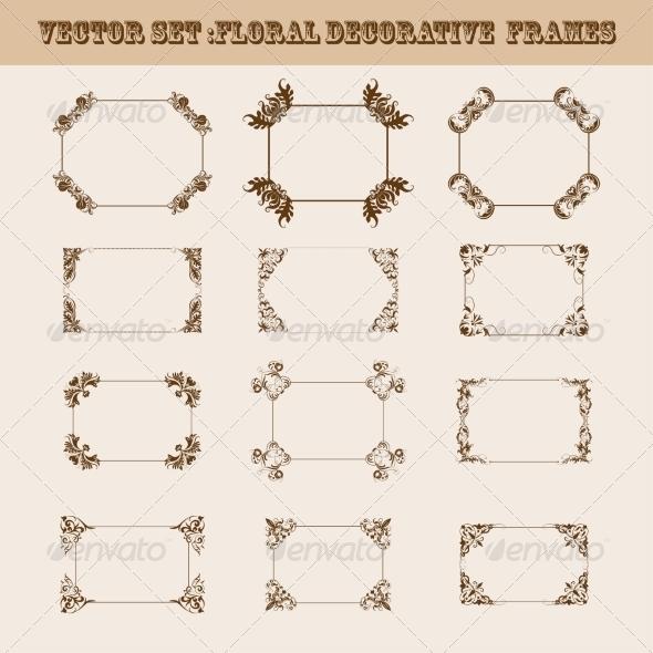 GraphicRiver Set of Decorative Frames 8257409