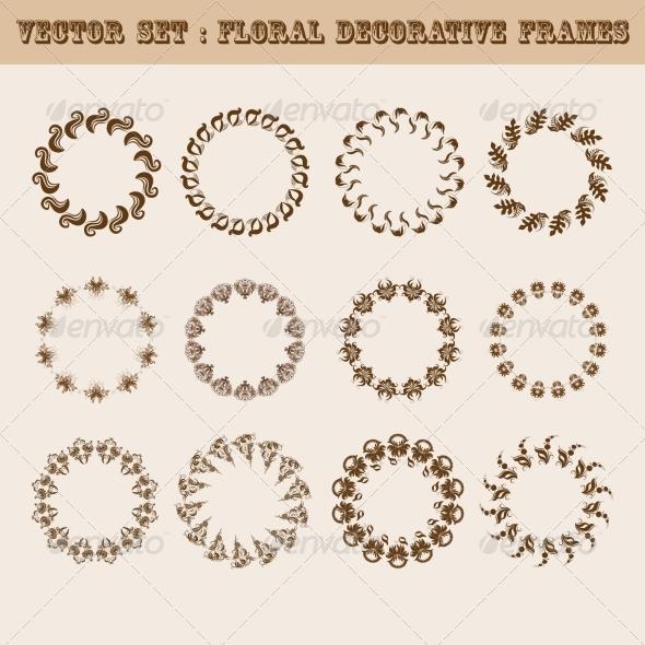 GraphicRiver Set of Floral Frames 8257411