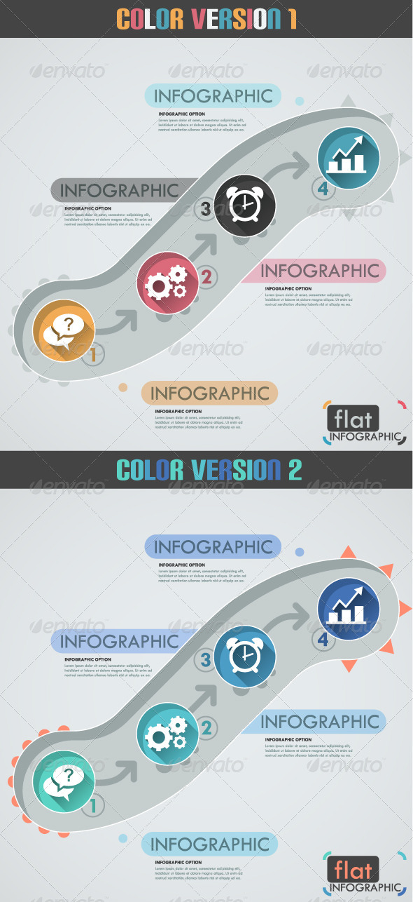 GraphicRiver Minimal Flat Infographic Template Two Versions 8257454
