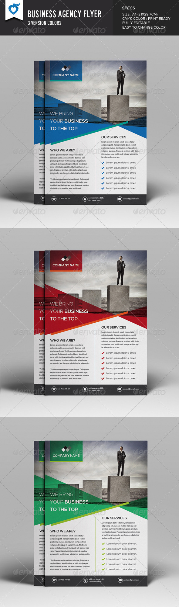GraphicRiver Business Agency Flyer 8257459