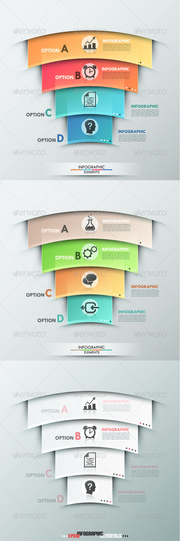 GraphicRiver Modern Infographic Options Banner Three Versions 8257528