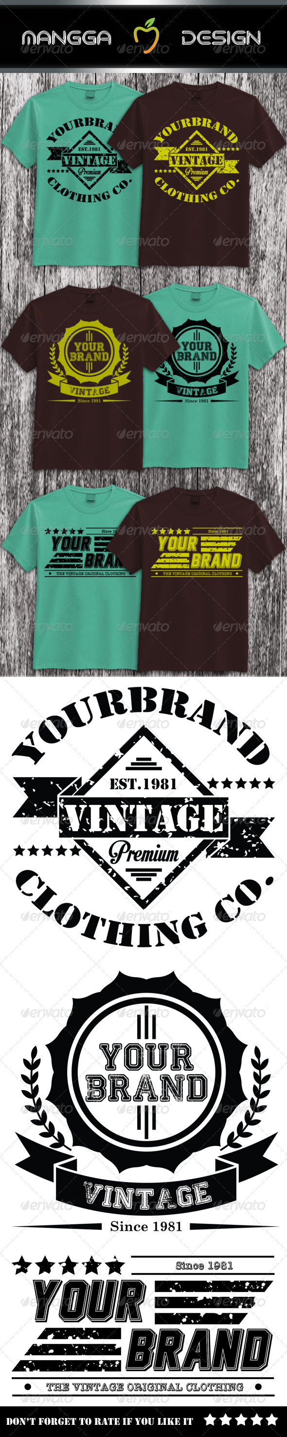 GraphicRiver 3 Vintage T-shirt 8257550