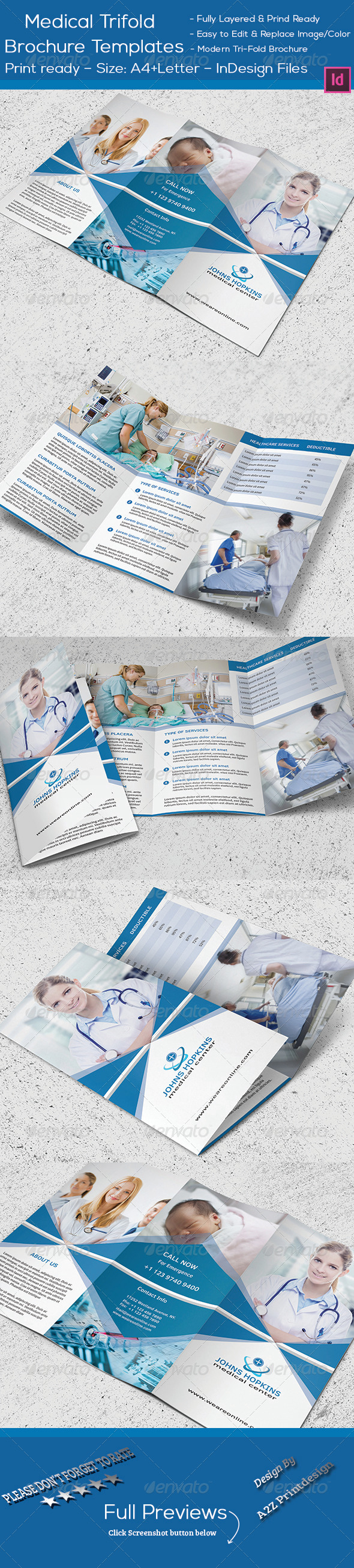 GraphicRiver Medical Trifold Brochure 8257631