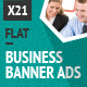 Flat Style Business Banner Ad Set - GraphicRiver Item for Sale