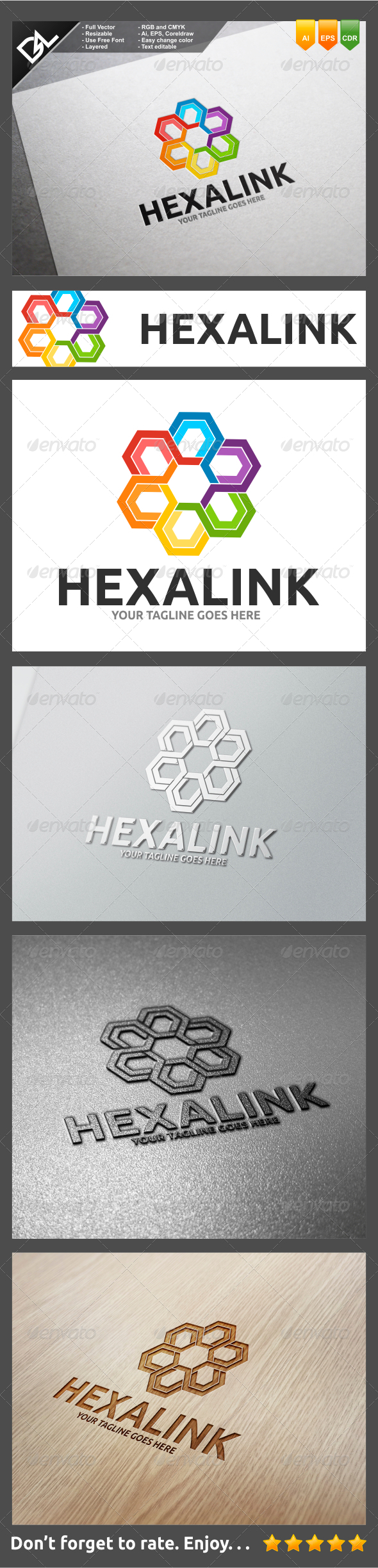 GraphicRiver Hexalink 8257667