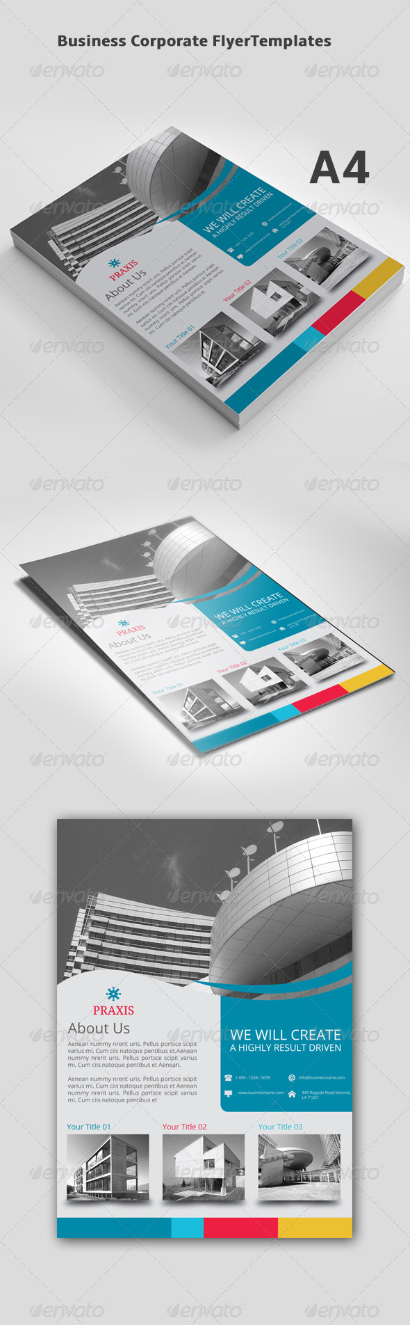 GraphicRiver Business Corporate Flyer Templates 8257757