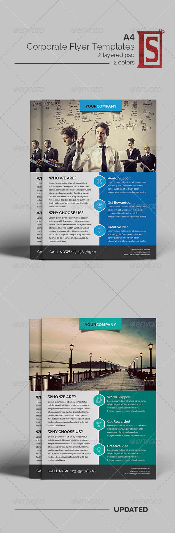 GraphicRiver Corporate Flyer Template 8174786