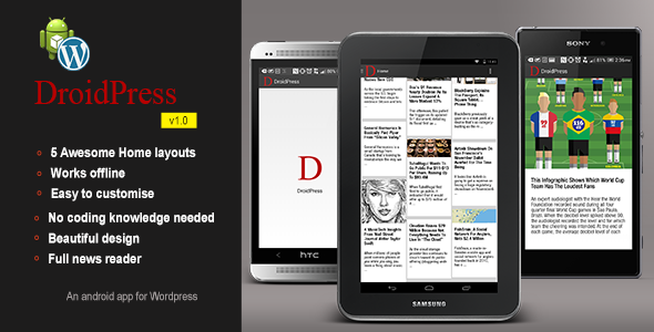 CodeCanyon DroidPress Android app for Wordpress 8230430