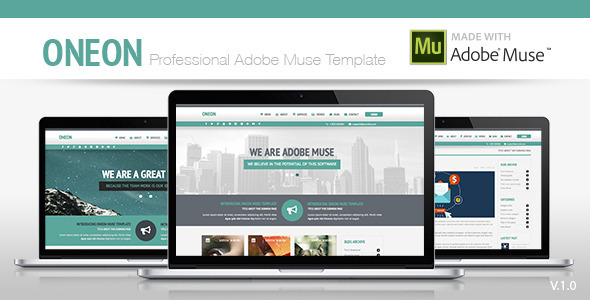 ThemeForest Oneon Adobe Muse Template 8190157