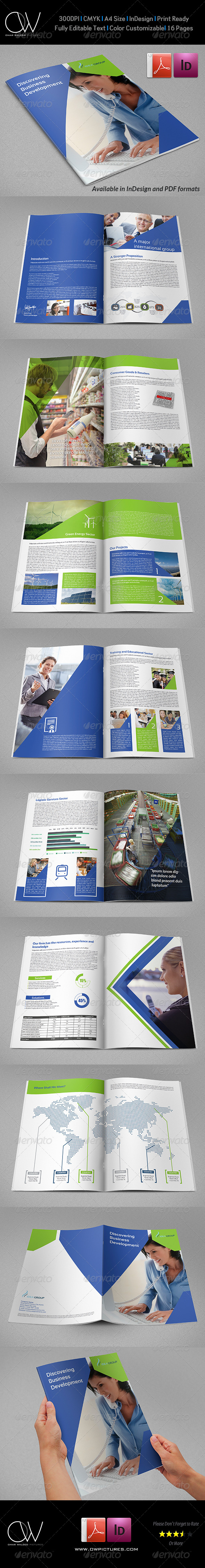 Company Brochure Template Vol.38 - 16 Pages - Corporate Brochures