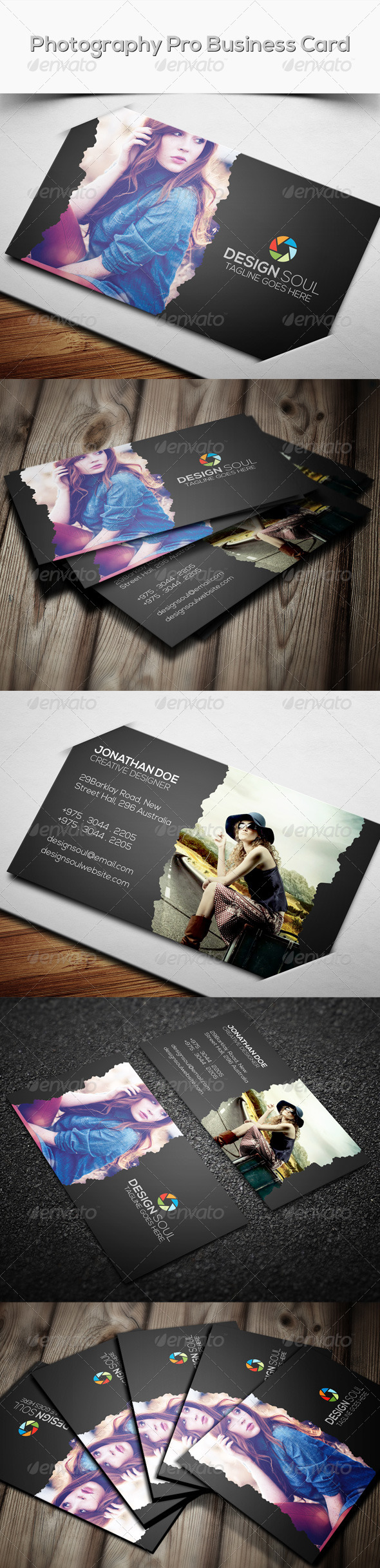 GraphicRiver Photography Pro Business Card 8258363