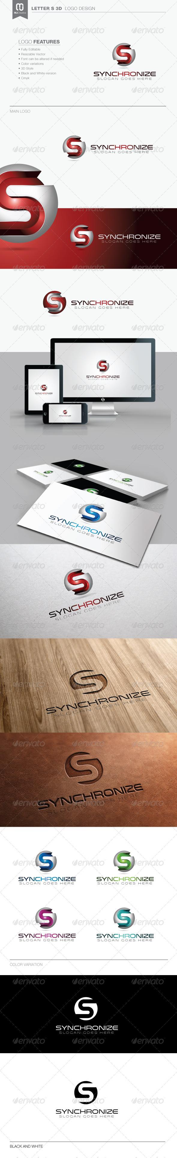 GraphicRiver Letter S 3D Tech Logo 8258377