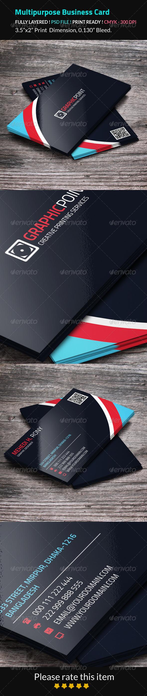 GraphicRiver Multipurpose Business Card 8258431