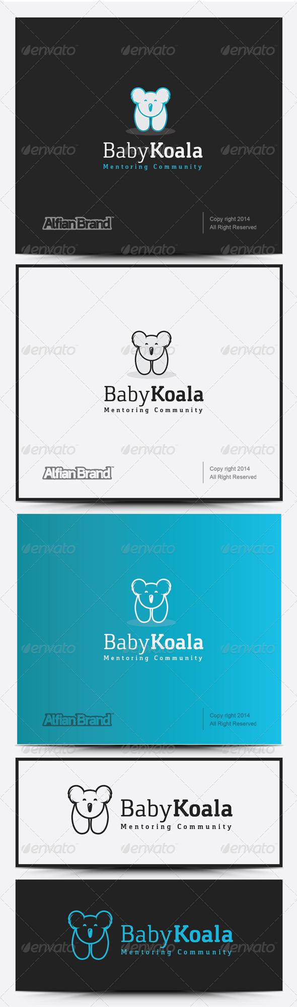 GraphicRiver Baby Koala Logo 8258433